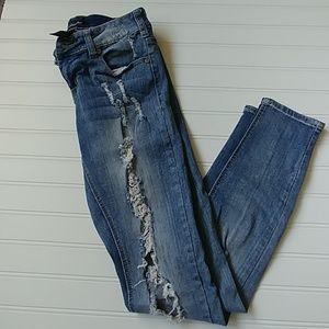 Lovesick Distressed Skinny Jeans
